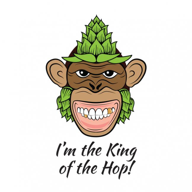 Hop Beer King Illustration