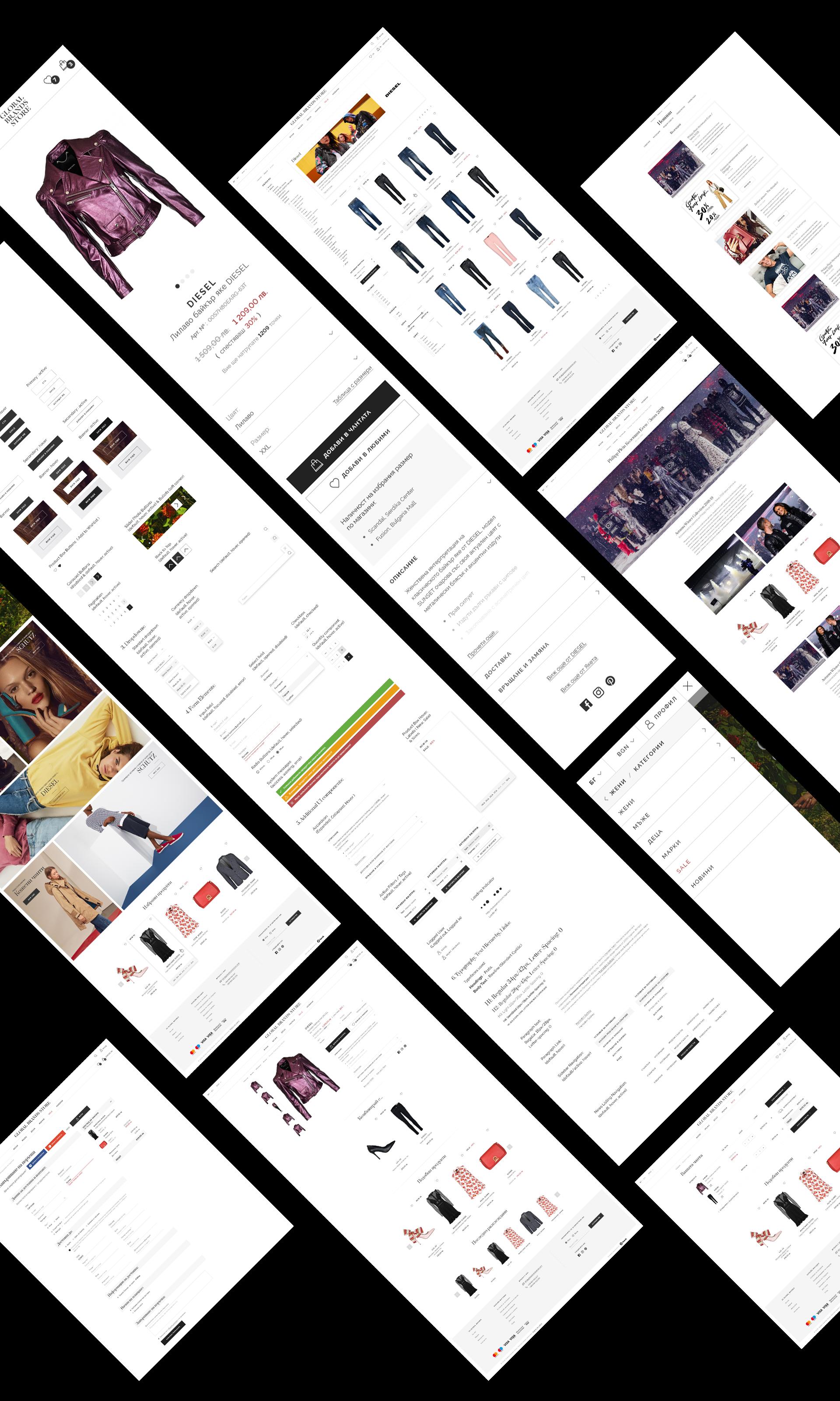 Global Brands - Всички екрани