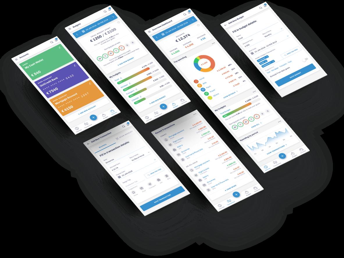 Budget Smart - всички екрани