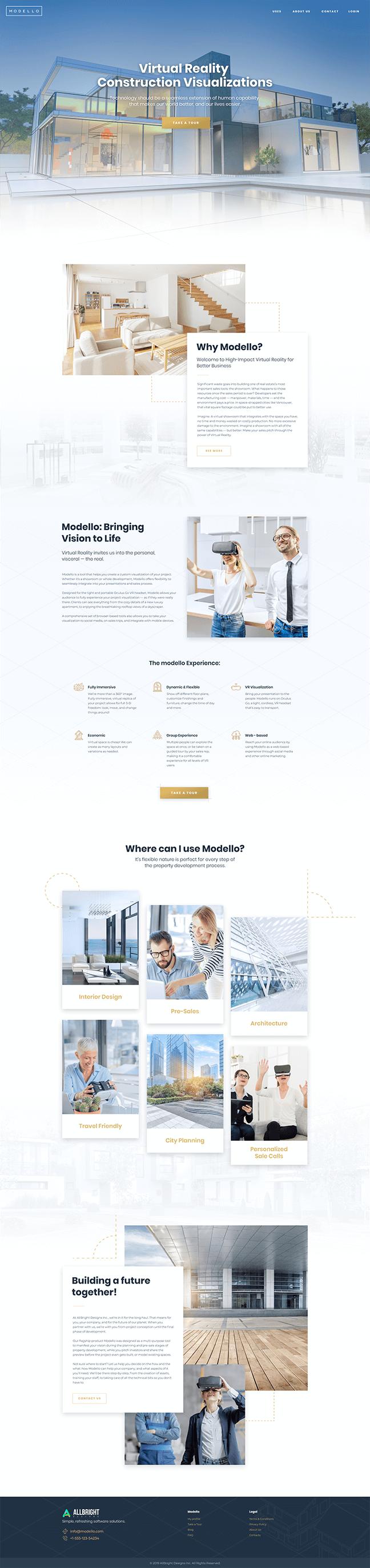 Modello Home Page