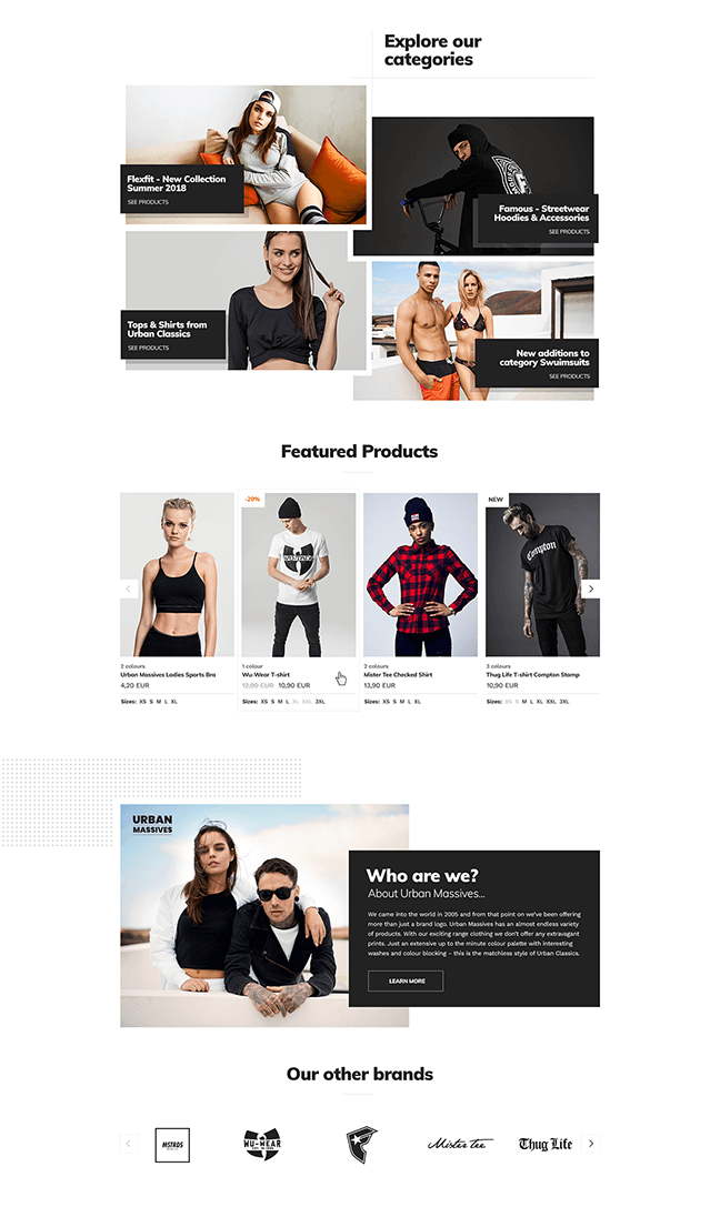 Urban Massives Homepage